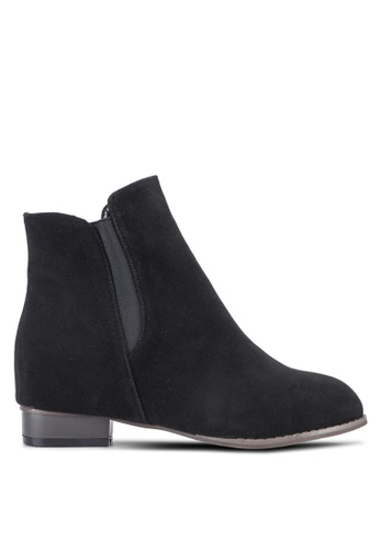 Something Borrowed black Suede Ankle Boot With Elevated Wedge BB546SH45C3C0EGS_1