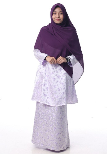 Baju Kurung Salwa from Denai Boutique in Purple