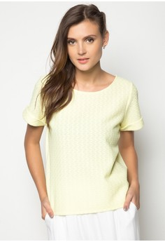 Short Sleeves Lace Boxy Hybrid Tee