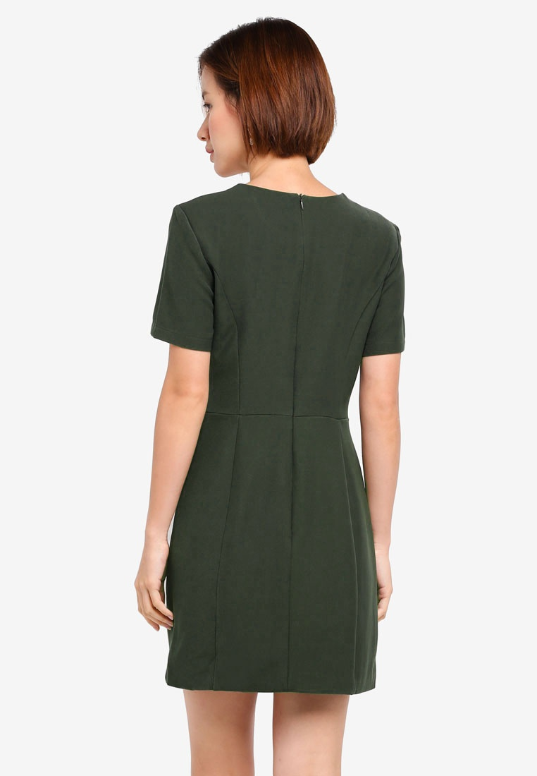 Olive Jersey Contemporary MDSCollections Dress In Olive XxYgw