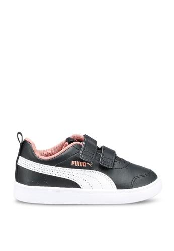 PUMA black Courtflex v2 Sneakers C76DFKSE58564DGS_1
