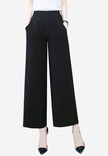 Twenty Eight Shoes black VANSA Chiffon Straight Wide-leg Pants  VCW-P2990F 4AEB9AAA2943C2GS_1