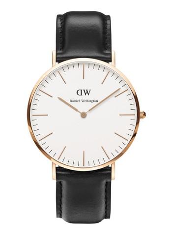 esprit outlet 台灣40mm Sheffield 經典手錶, 錶類, 皮革錶帶