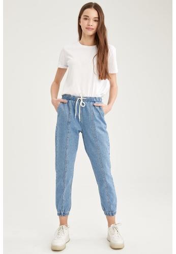 DeFacto blue High Waist Jogger Jeans 94949AAC588FE1GS_1