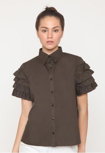 Mille Fleur brown Mille fleur jollin shirt olive 4AC43AA1B7458FGS 1 3e1c848afc