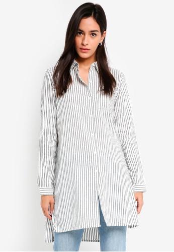 ICHI white Bano Shirt Tunic BE765AA86BFED5GS_1