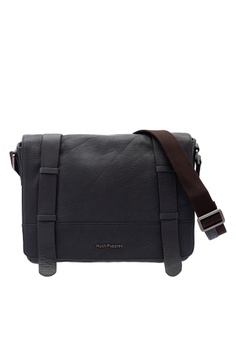 1b86bfe00 Hush Puppies grey Hush Puppies Men's Chase Leather Messenger Bag Grey  C5E20ACD2D7CE8GS_1