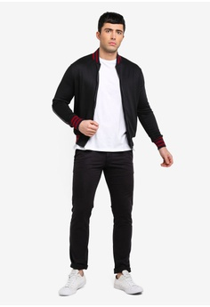 35c25d60e8e 48% OFF UniqTee Bomber Jacket with Contrast Side Stripe S$ 61.90 NOW S$  31.90 Sizes M L
