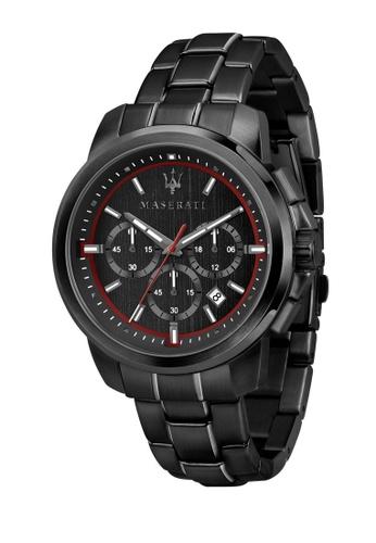 Maserati black Successo Quartz Watch R8873621014 Black Stainless Steel Strap 894F2AC60EDD95GS_1