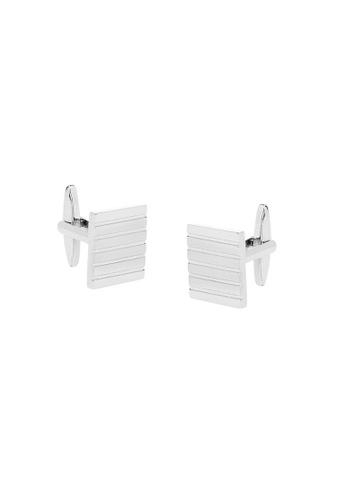 Buckle silver Square Nickel Polished Linear Cufflinks 0AA12AC5453C0CGS_1