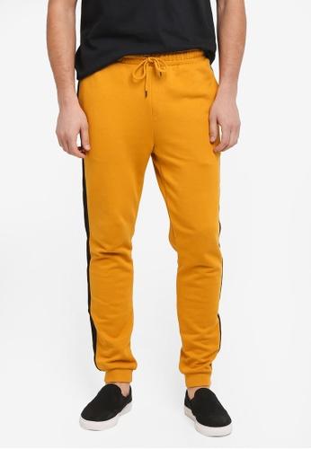 Topman yellow Taped Jogger Pants CD7B3AAC389CA2GS_1