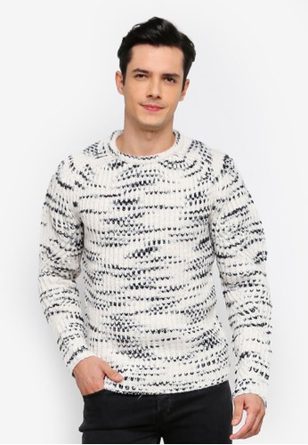 Only & Sons white Lance Structure Knit Jumper 17E53AAD79EA15GS_1