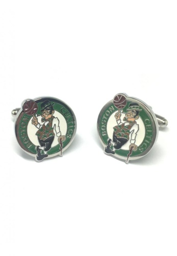 Splice Cufflinks white and green Boston Celtics Badge Cufflinks SP744AC48FRVSG_1