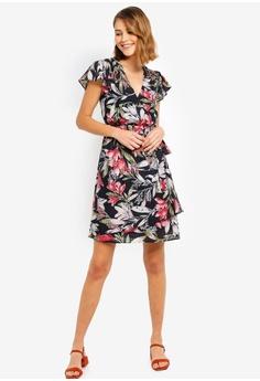 209f04f4d48 French Connection Floreta Shadow Wrap Dress RM 459.00. Sizes 6 8 10 12 14