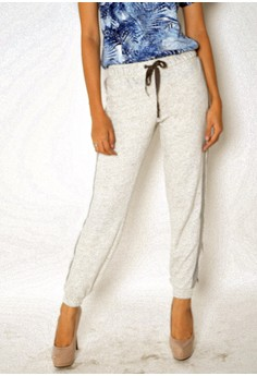Women's Jogger Pants Cotton Stripes Knitted