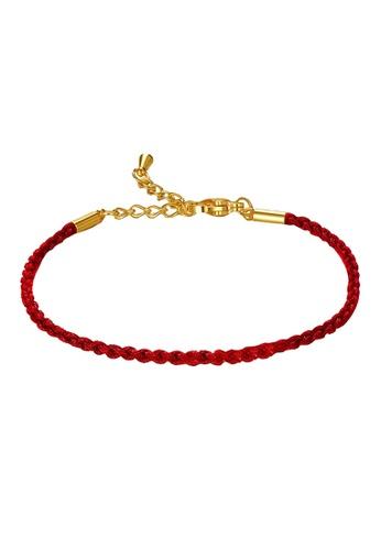 LITZ red LITZ Adjustable Rope Bracelet (2mm) BR08-RED 04122AC5ADEEE0GS_1