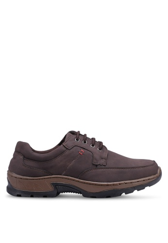 Rocklander brown Lace Up Sneakers A8374SHE29407BGS_1