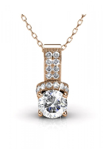 Her Jewellery gold Her Jewellery Eve Pendant (Rose Gold) with Necklace Chain with 18K Gold Plated C51BBAC636C619GS_1