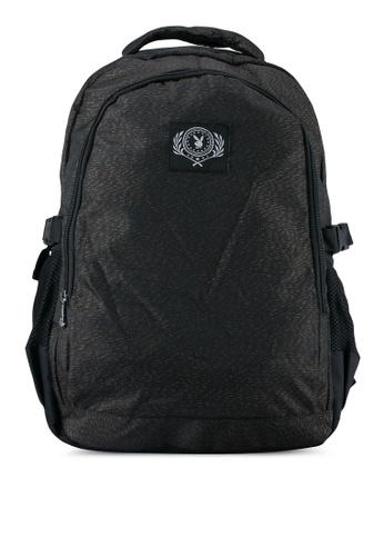 Playboy black Playboy Casual Backpack PL371AC0SK0KMY_1