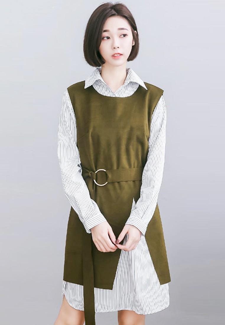 Polished Charm Combo Dress