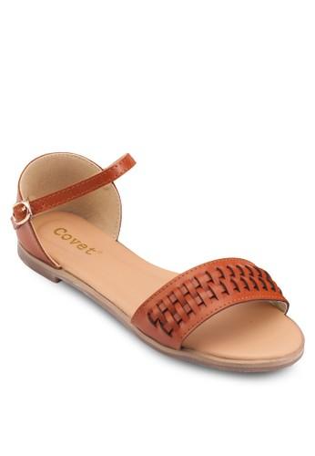 編織暗紋平底涼鞋, 女鞋esprit 價位, 鞋