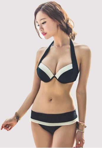 b484ffa9e1 Rosy Rouge white Korean Trendy Three Pieces Bikini Set B72F4USE58C182GS 1