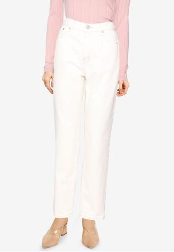 Mango 白色 Mom-Fit Jeans E9EEDAAF888AF1GS_1