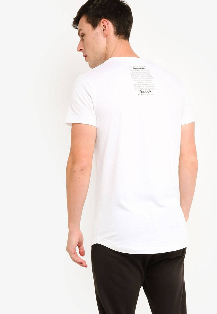 Longer Foundation Reebok White GP Classics Tee 7pwUqwC