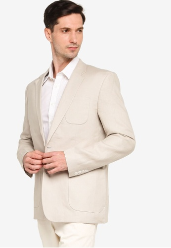 French Connection grey Summer Linen Tailored Jacket C6348AAA80B83EGS_1