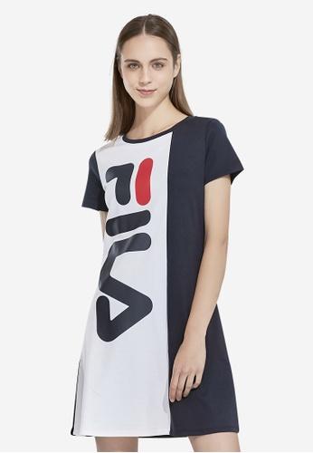 FILA navy FILA Logo Colour Blocked Dress 4691FAA0B00E98GS_1