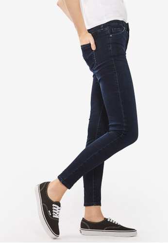 TOPSHOP blue Moto Midnight Leigh Jeans TO412AA90TFPMY_1