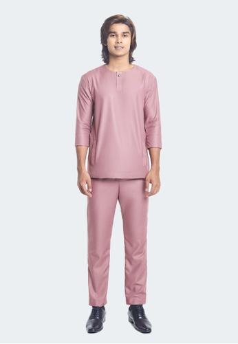 De Leuca pink De Leuca Baju Melayu Hang Jebat - Rose Gold 1BAD7AAEBF8EB9GS_1