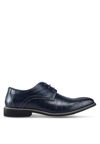 Twenty Eight Shoes 藍色 雕紋牛津鞋 45210SH174E5D2GS_1