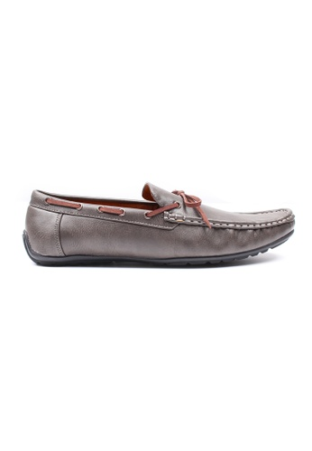 Moley grey Casual Loafers with Suede Lace MO329SH0GNQMSG_1