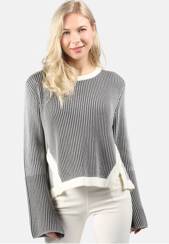 London Rag grey Flare Bell Sleeve Sweater 6E238AAB84BCB9GS_1