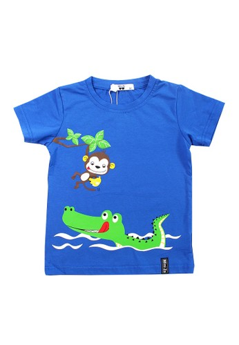 Mini Zo blue Donald Baby Boy Shirts Blue 74C1AKA5B26ADAGS_1