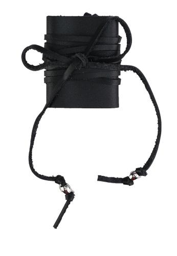 GLOBAL WORK black Wrap Around Hair Tie 4B56FAC62E82EDGS_1