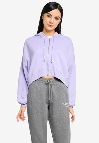 Hollister purple Branded Zip Hoodie 15F6AAA2A410A9GS_1