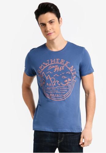 ESPRIT blue Short Sleeve T-Shirt E3D21AAF13F815GS_1