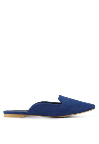 ZALORA navy Pointed Mules 3BE60SH67EFAA7GS_1