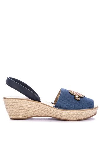 c139e169e7f6 Shop Kenneth Cole Fine Glass Espadrille Patch Wedge Sandals Online on  ZALORA Philippines