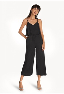 435c711aee79 Relaxed Spaghetti Strap Jumpsuit - Black 104F6AA1451B16GS 1