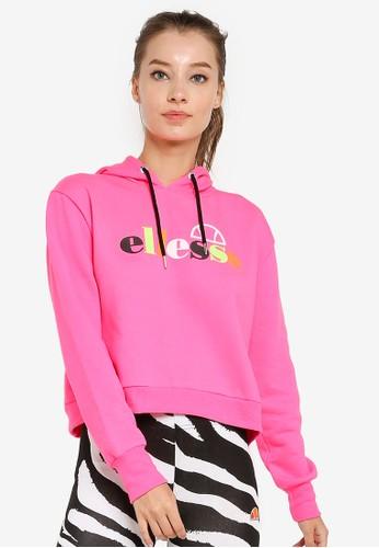 ellesse pink Gaetana Cropped Hoodie - Ellesse Heritage 9DFA6AADDCF0B3GS_1