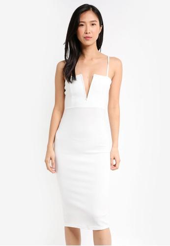 ca06b286e6b4 Buy MISSGUIDED Scuba Strappy V Bar Midi Dress Online on ZALORA Singapore