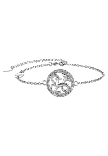 Her Jewellery white Her Jewellery 12 Horoscope Circlet Capricorn Bracelet (White Gold) embellished with Crystals from Swarovski A597BAC253100EGS_1