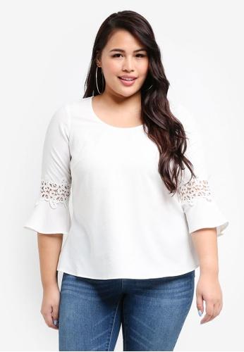 Junarose white Plus Size Nadina Blouse 1F8C7AAB757352GS_1