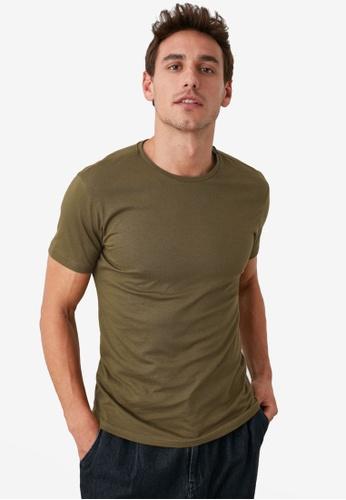 Trendyol green Basic Crew Neck Slim Fit T-Shirt A3DCCAA397CC53GS_1