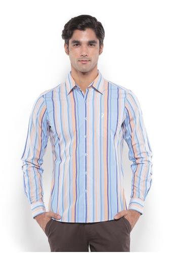 POLO HAUS multi Polo Haus - Men Woven Shirt (Blue/Orange) PO783AA81YRMMY_1