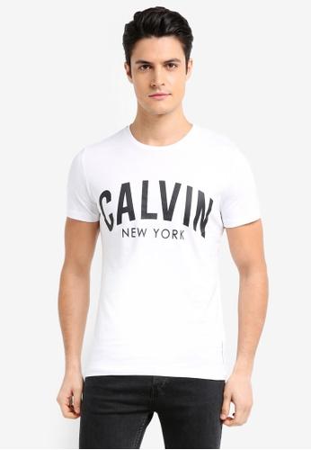 Calvin Klein white Tibokoy Slim Short Sleeve Crew Neck Tee - Calvin Klein Jeans 2CABDAA82ECD2DGS_1