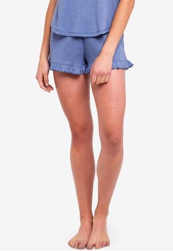 Cotton On Body blue Rib Frill Shorts 6E360AA812137AGS_1